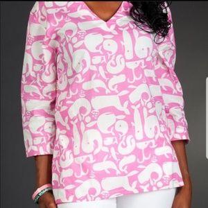 💟Tracy Negoshian💟 Pink/White Tunic Size Small